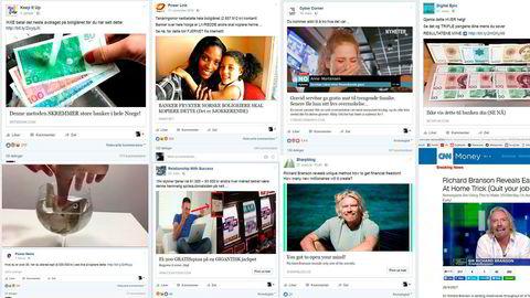 Lureannonser forkledd som nyheter og skjult reklame for gamblingnettsteder spres på Facebook i høy hastighet.