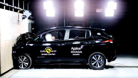 Nissan Leaf oppnår toppkarakter i kollisjonstest.