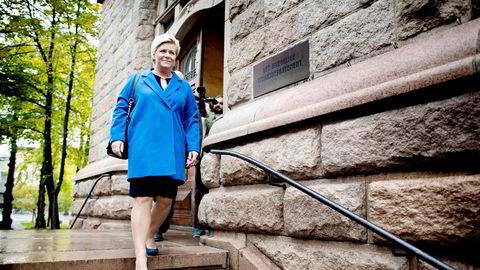Finansminister Siv Jensen skal legge frem statsbudsjettet på torsdag.