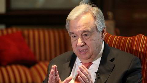 The UN Secretary-General has traditionally been an honorary member of the board of the think tank IPI. The current SG António Guterres is now out. (Photograph: K.M. Chaudary/AP/NTB)