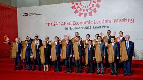 Lederne fra Apec-landene (Asia Pacific Economic Cooperation) lover å fortsatt jobbe for en frihandelsavtale.
