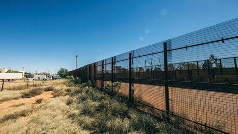 Grensegjerde mot Mexico i Arizona, USA.