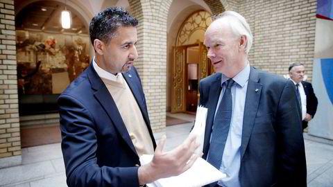 Abid Raja (V) og Per Olaf Lundteigen (Sp) vil ha frem opplysninger den manglende sikringen av vitale eiendommer og institusjoner.