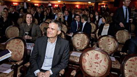Tidligere Statoil-sjef Helge Lund deltok på presentasjonen av Circle K-sjef Jacob Schrams lederbokpå Christiania Teater i Oslo torsdag. I den forbindelse holdt han også et sjelden foredrag.