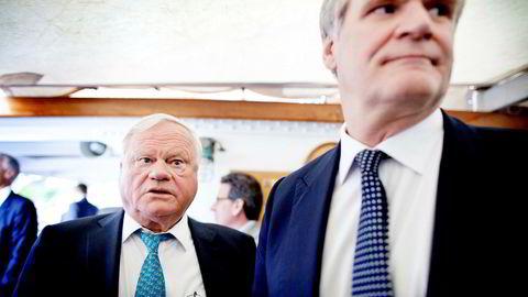 John Fredriksen (til venstre) og Tor Olav Trøim.
