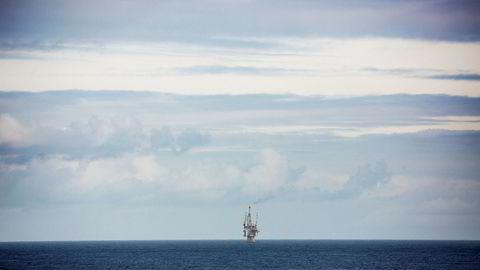 Avbildet er en oljeplattform i Nordsjøen