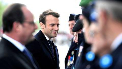 Emmanuel Macron sto for den mest troverdige økonomiske linjen i valgkampen – og han hadde flaks. Dagen etter valget deltok han i en minnemarkering for annen verdenskrig sammen med sin forgjenger presidentFrançois Hollande.