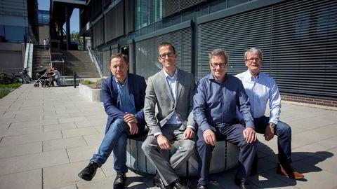 Ultimovacs ble grunnlagt i 2011 med utspring i forskning ved Oslo universitetssykehus. Fra venstre: Per Sontum, daglig leder i Phoenix Solutions, Ketil Widerberg, daglig leder Oslo Cancer Cluster, Øyvind Kongstun Arnesen, daglig leder Ultimovacs AS og Steinar Aamdal, Ultimovacs.