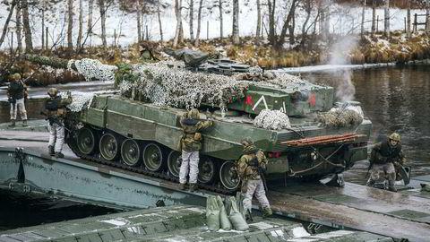 Ingeniørbataljonen i Brigade Nord under den store Nato-øvelsen Trident Juncture 2018.