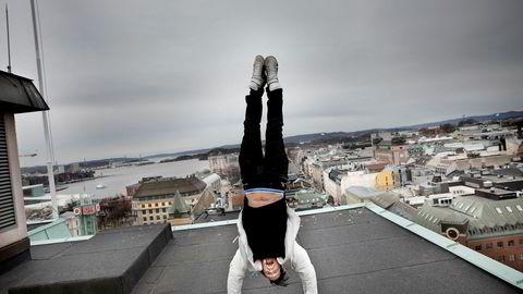 Petter Stordalen på taket av gamle Royal Christiania som får navnet The Hub når det åpner i 2019. Akkurat her kommer en ny topprestaurant med spektakulær utsikt over Oslo.