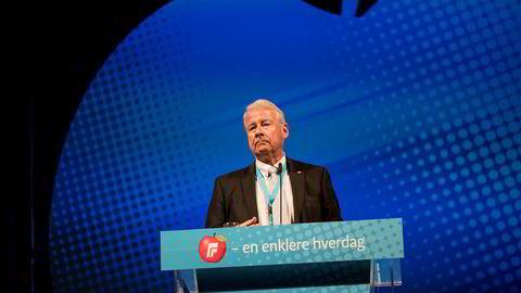 76 år gamle Carl I. Hagen var leder for Frp fra 1978 til 2006 og stortingsrepresentant fra 1981 til 2009.