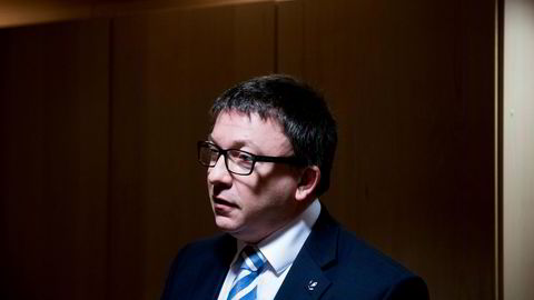 Karl Johnny Hersvik, administrerende direktør i Aker BP, holder kapitalmarkedsdag mandag. Bildet er tatt ved en tidligere anledning. Foto: Fartein Rudjord