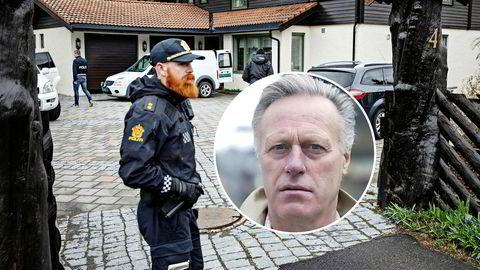 Mens milliardær Tom Hagen ble pågrepet for drapet på sin kone Anne-Elisabeth Hagen sperret politiet av ekteparets hjem og hans kontorer på Lørenskog.