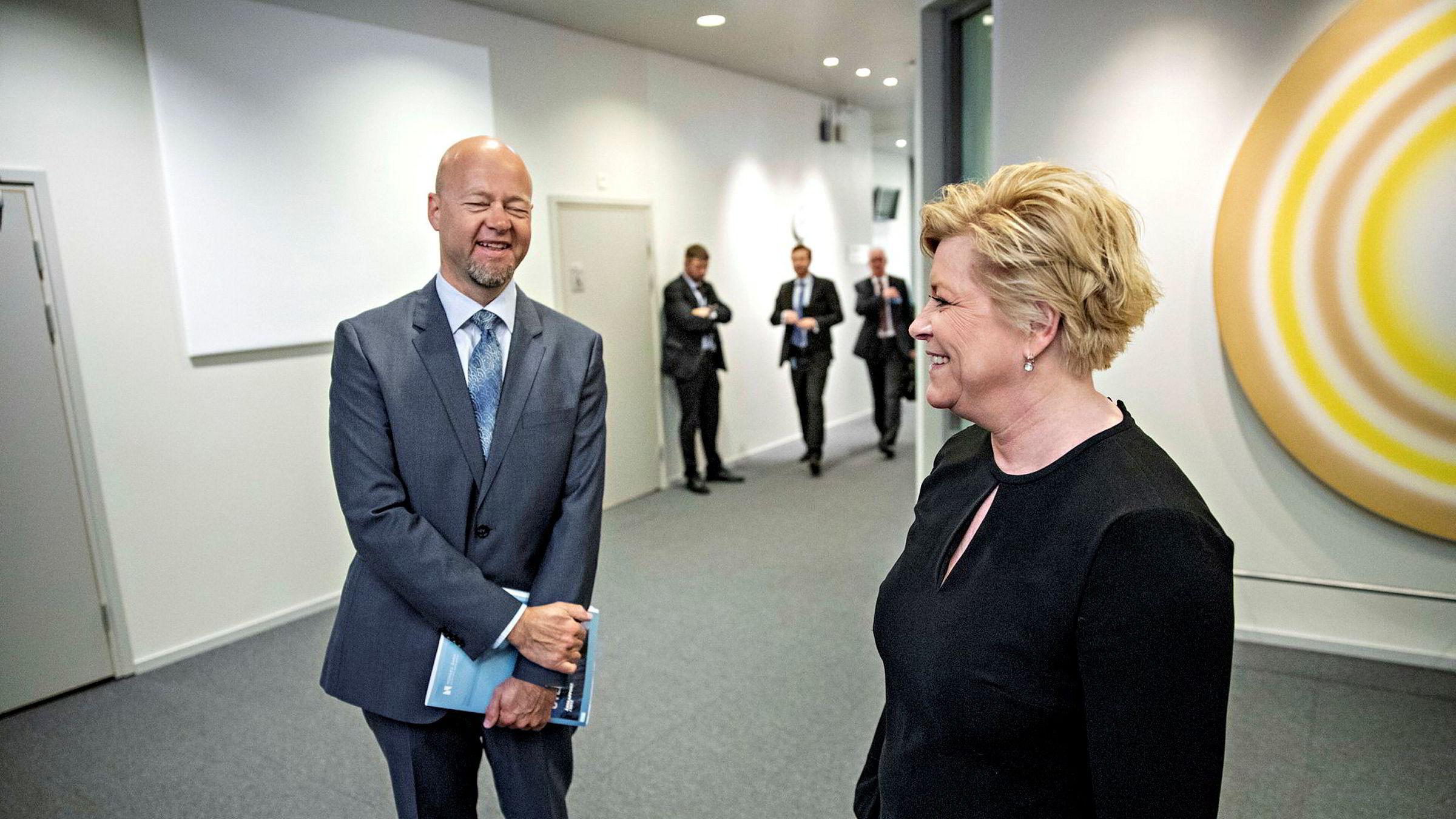 Oljefondssjef Yngve Slyngstad kunne koste på seg 10.000-milliardergliset sist fredag.