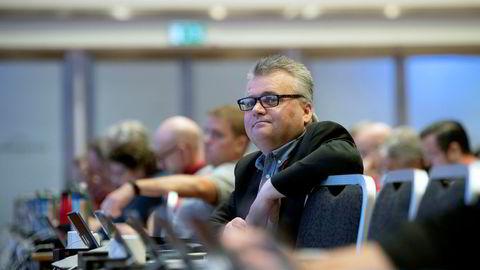 Fellesforbundet begynte fredag med sitt landsmøte, som varer til onsdag. Her er forbundsleder Jørn Eggum.