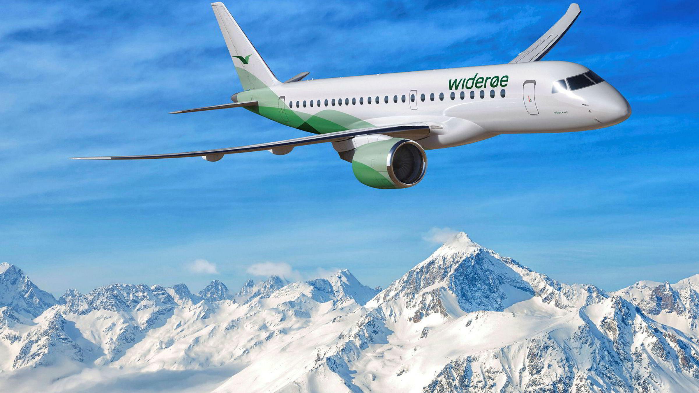 Widerøe har kjøpt tre nye jetfly av typen Embraer E190 E2, med levering neste år. Totalt kan selskapet kjøpe 15 slike fly.