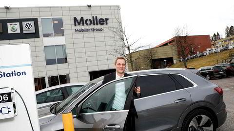 Konsernsjef i Møller Mobility Group, Petter Hellman, kan se tilbake på et år med milliardoverskudd.