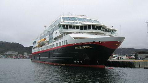 Det er her ved Bodø havn at Hurtigruten mener det har betalt altfor mye havneleie i en årrekke. Nå har selskapet anket den frifinnende dommen fra lagmannsretten til Høyesterett. Foto: Vidar Knai / SCANPIX .