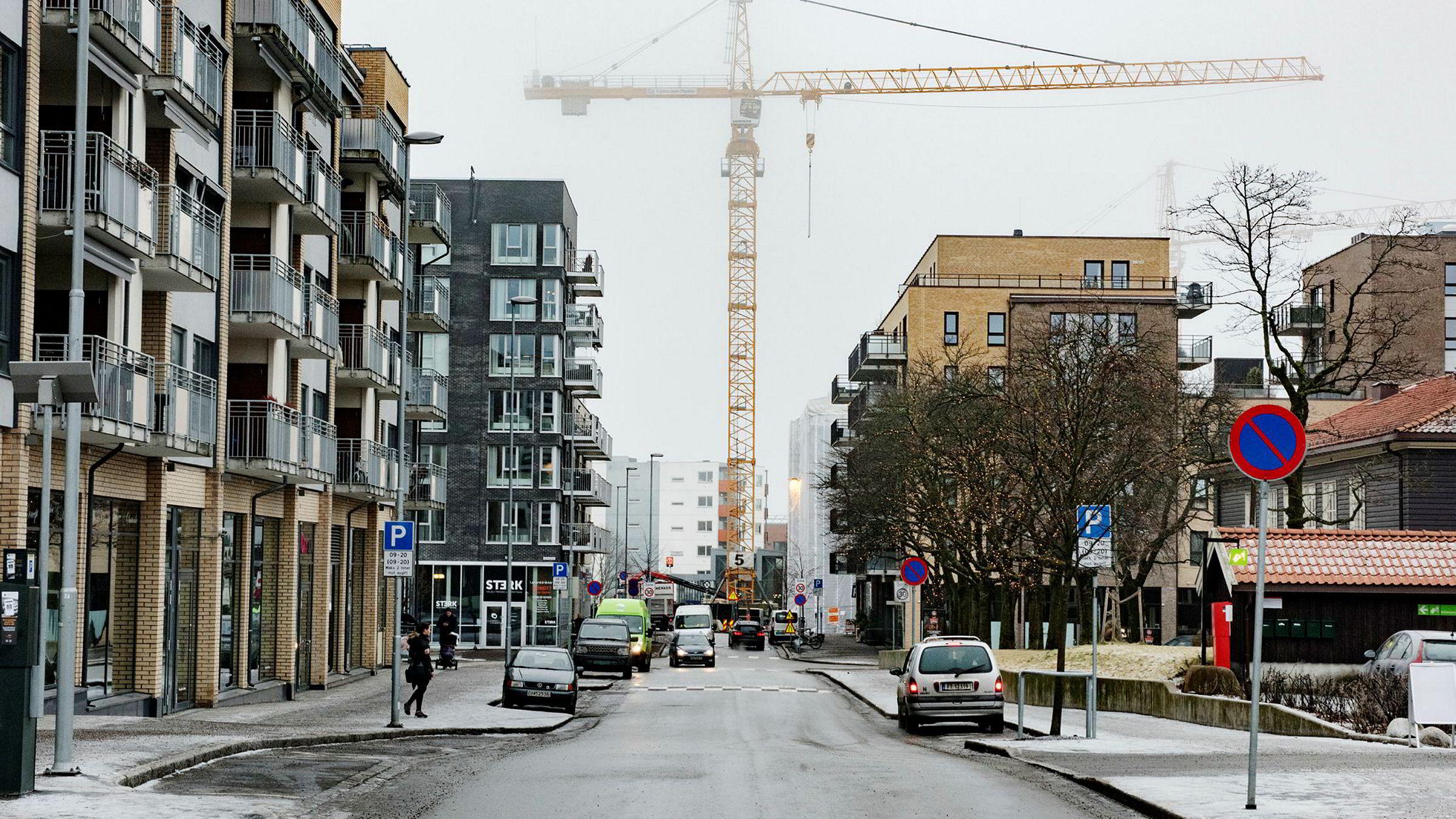 Boligbygging på Løren i Oslo. Foto: Fartein Rudjord.