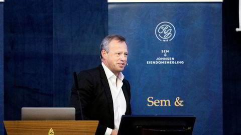 Stig L. Bech ble utnevnt til ny styreleder i det kommunale foretaket Boligbygg etter at de kritikkverdige forholdene ble avdekket og leder nå granskningen. Her er han på en eiendomskonferanse i Oslo der han fortalte eiendomsutviklere om risikoområder knyttet til eiendomstransaksjoner.