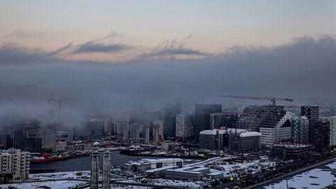 Norges største byer opplever innenlandsk utflytting, skriver innleggsforfatteren. Bildet viser Bjørvika i Oslo.