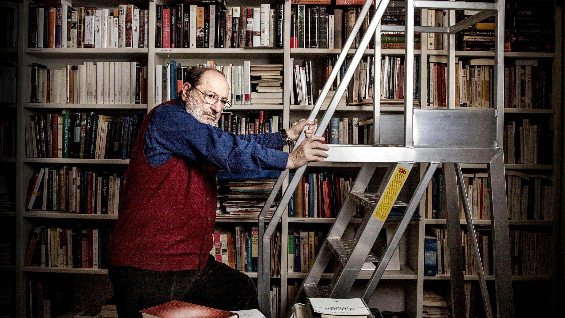 Nå skal Umberto Ecos eget privatbibliotek finne et hjem. Eco døde for to år siden og etterlot seg omkring 50.000 bøker.