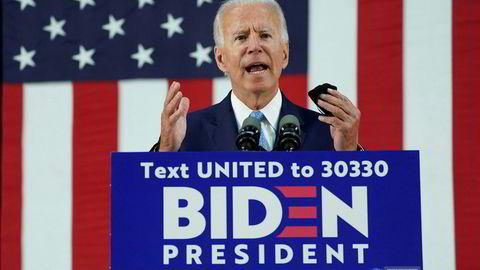 Joe Biden leder på meningsmålinger blant investorer på Wall Street. De lurer på hvordan aksjemarkedet vil se ut med han som president.