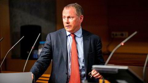 Påtroppende oljefondsjef Nicolai Tangen møtte på pressekonferanse for å kommentere egen ansettelsesavtale torsdag.
