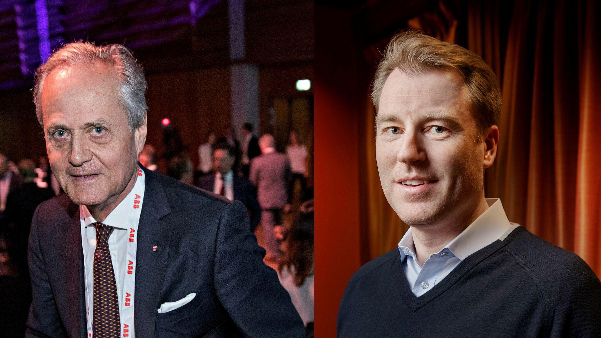 Styreleder Kristian Siem i Subsea 7 og Pål Kibsgaard-Petersen, sjef i Schlumberger.