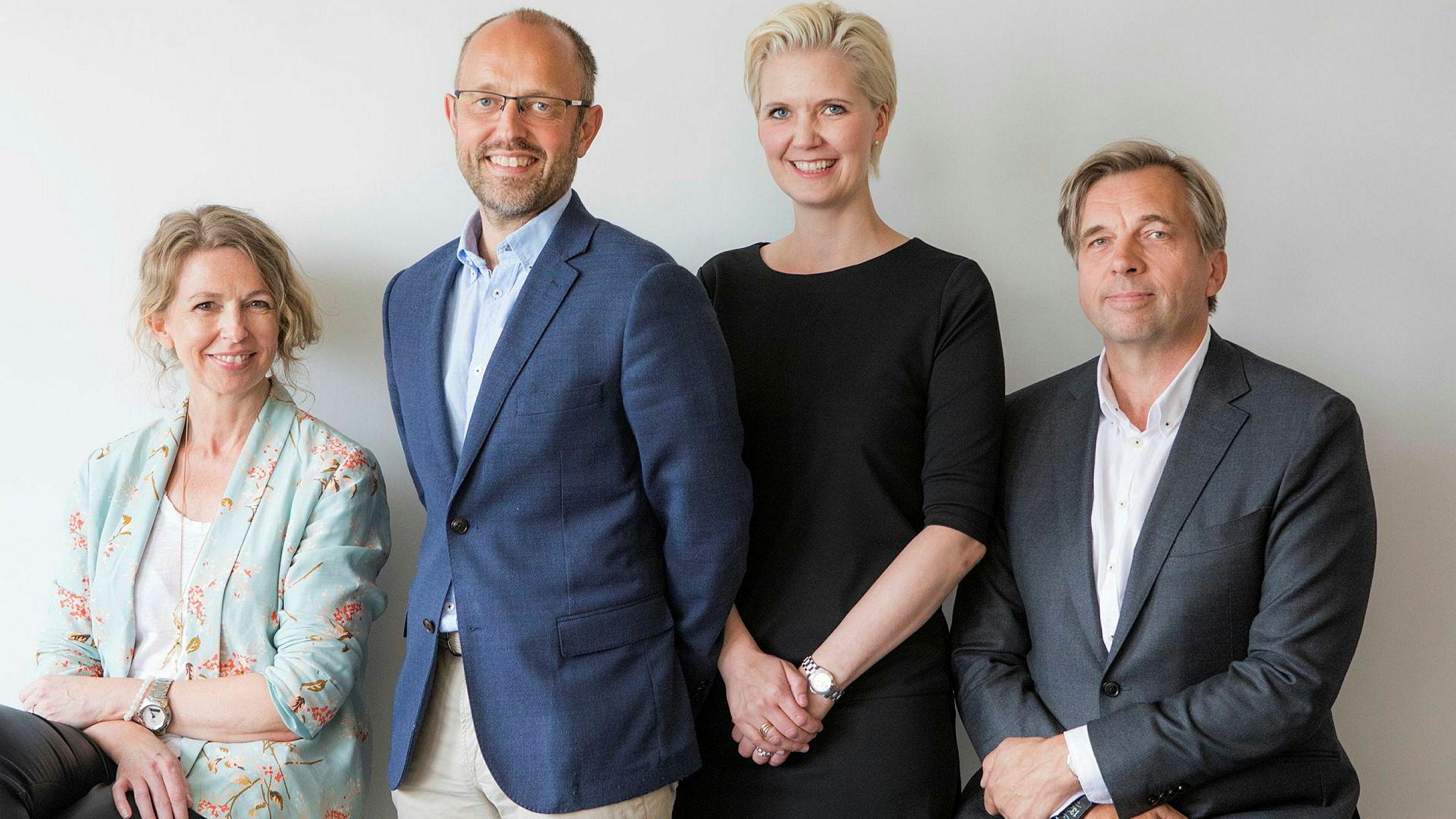 Fra venstre: Christina Dorthellinger Nygaard, Mads Yngve Storvik, Tina Mari Flem og Geir Terje Ruud. Foto: Thomas Brun / NTB scanpix