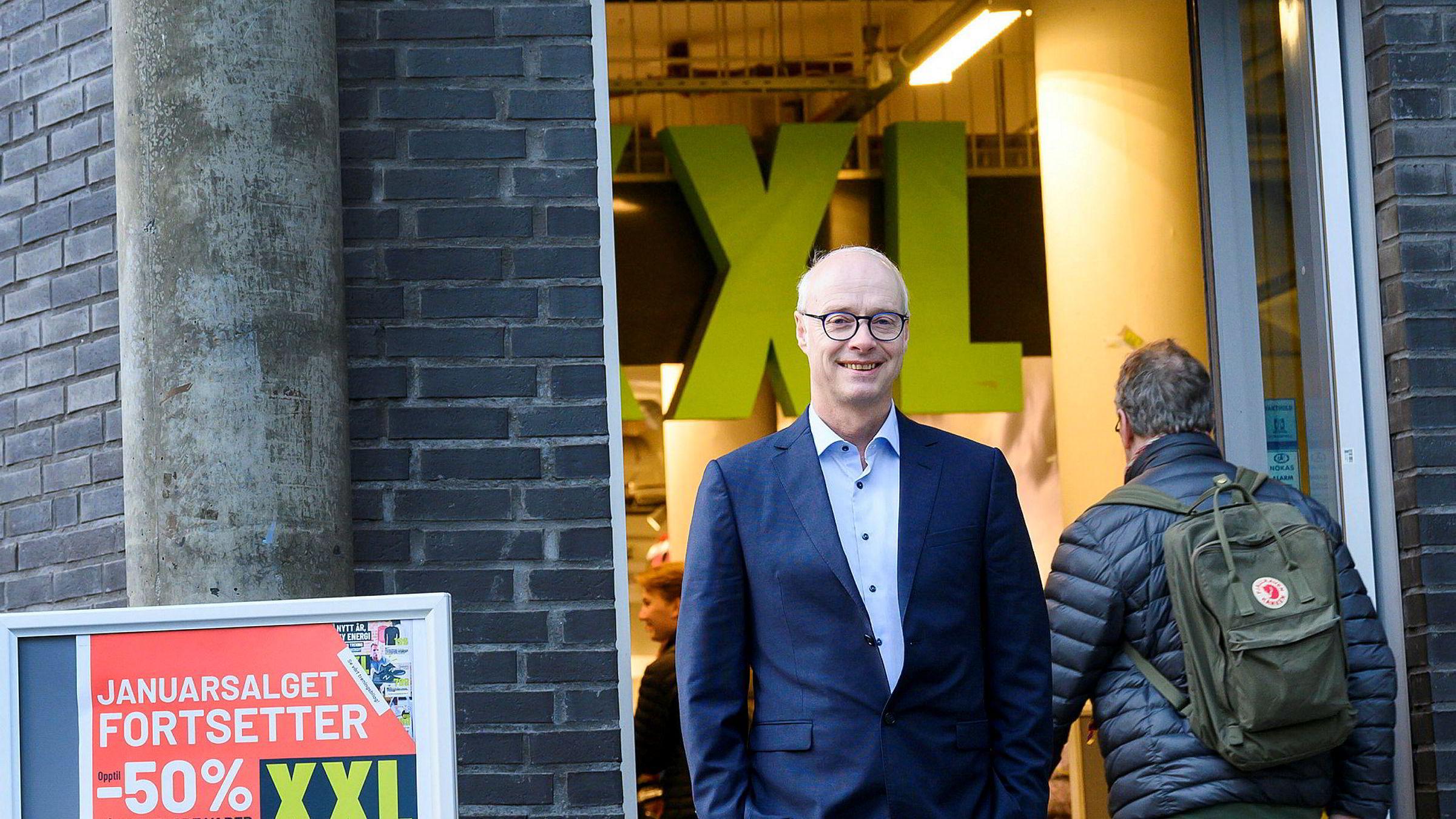 Europris-sjefen Pål Wibe blir ny XXL-sjef. Her fotografert utenfor XXL i Sørkedalsveien. ---