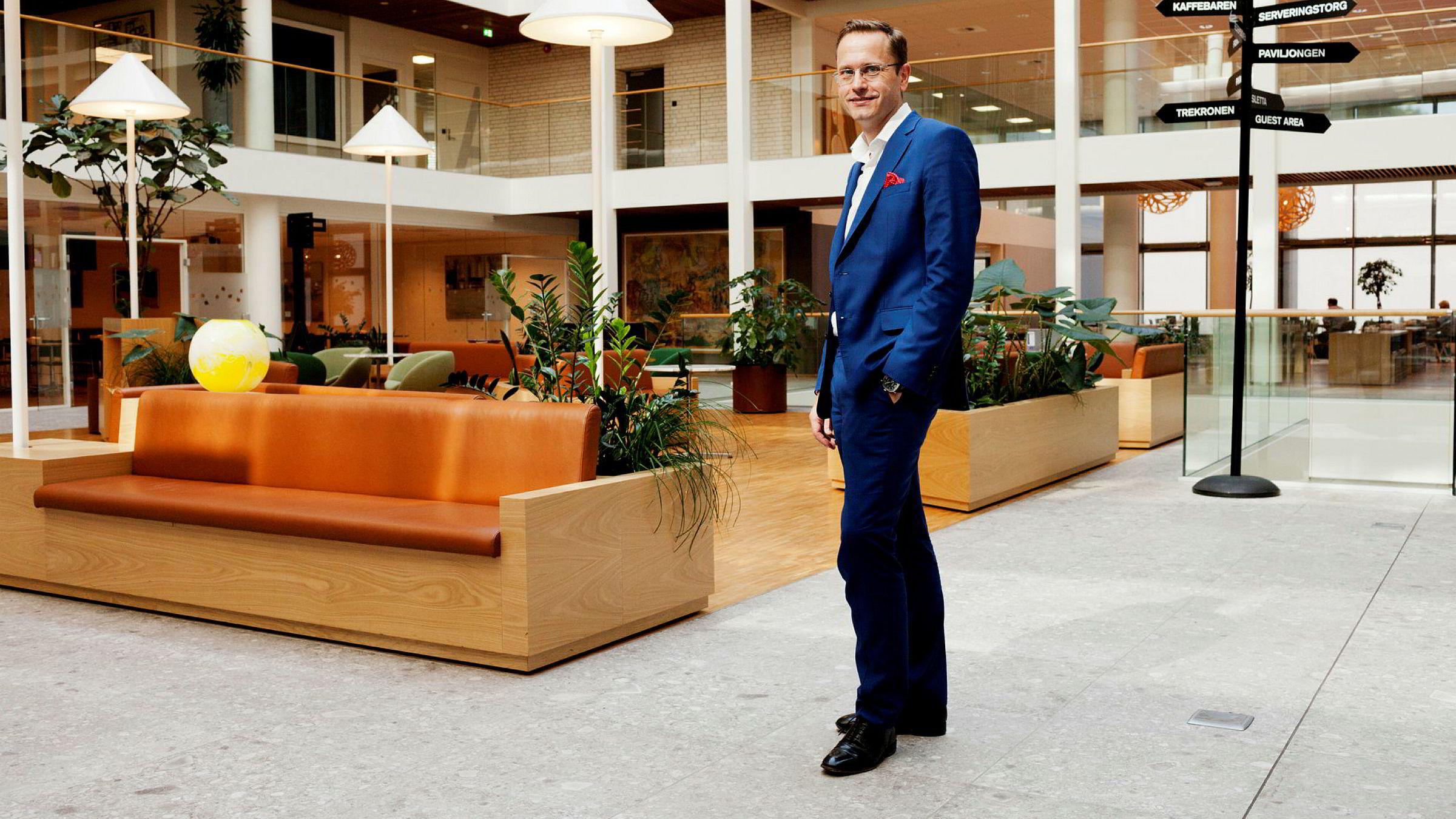 Snorre Storset, administrerende direktør for Nordea Bank Norge, la frem resultatene for første kvartal onsdag morgen.