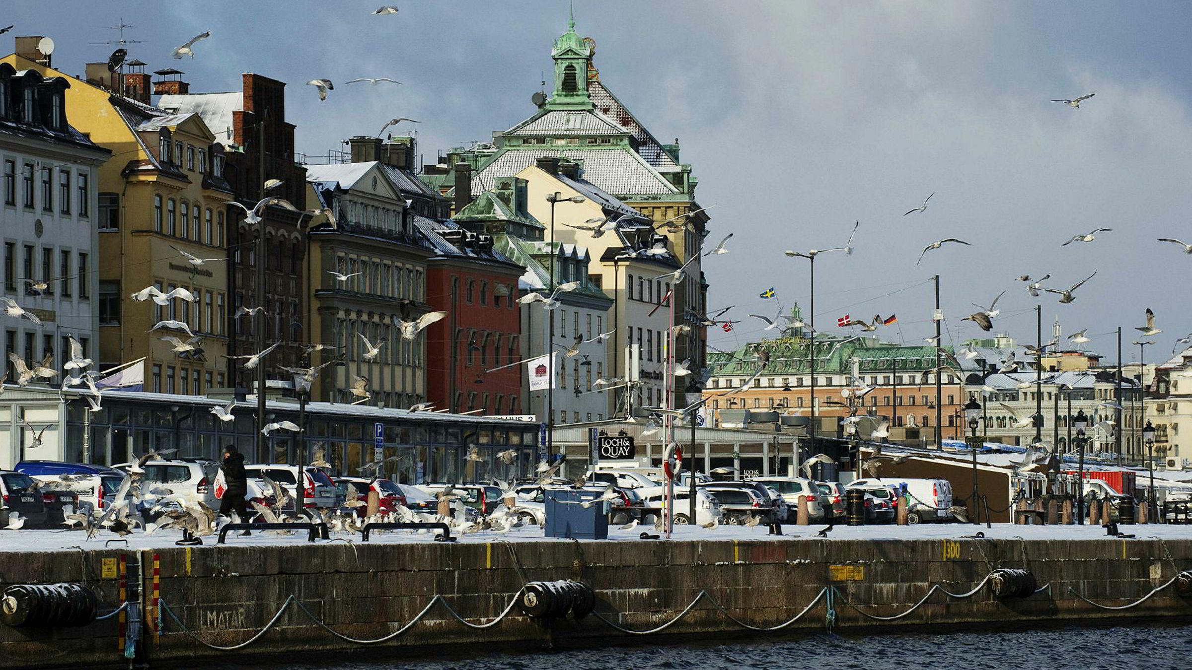 Storbanken Barclays har Sverige på topp over land som risikerer å gå på en smell i boligmarkedet. Her et oversiktsbilde fra Stockholm.