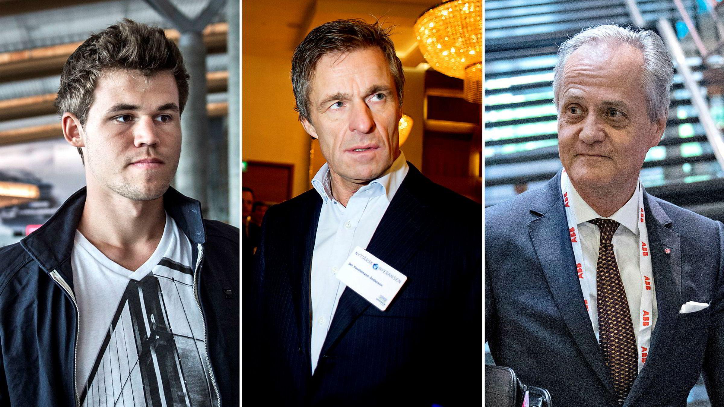 Magnus Carlsen, Jan Haudemann-Andersen og Kristian Siem blir teknoinvestorer.