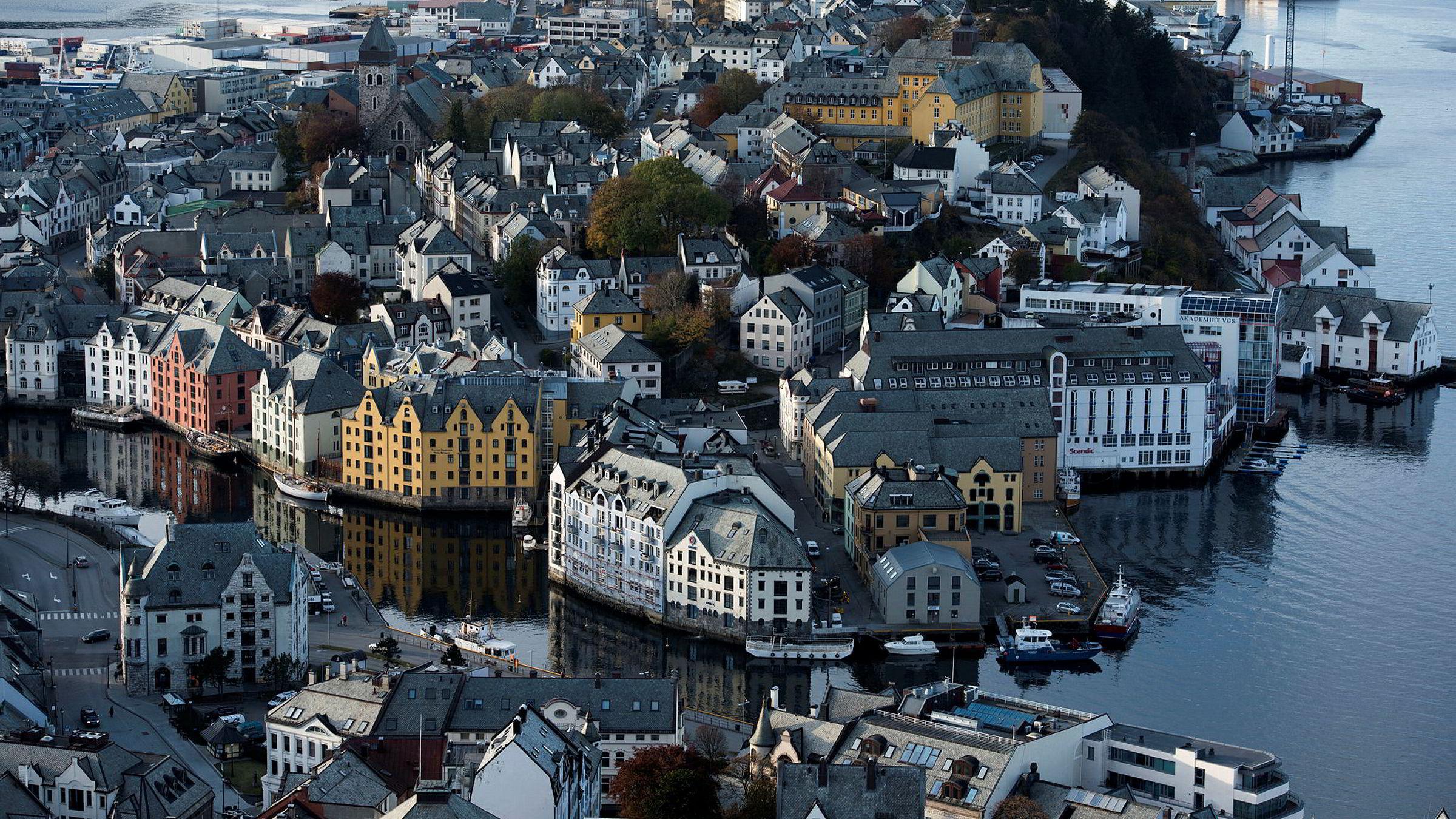 I Ålesund har prisene steget med 6 prosent de siste 12 månedene.