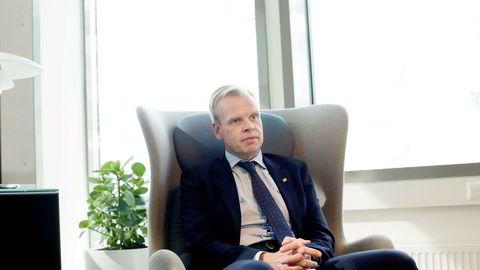 Yara-sjef Svein Tore Holsether. Her fra første dag på jobben.
