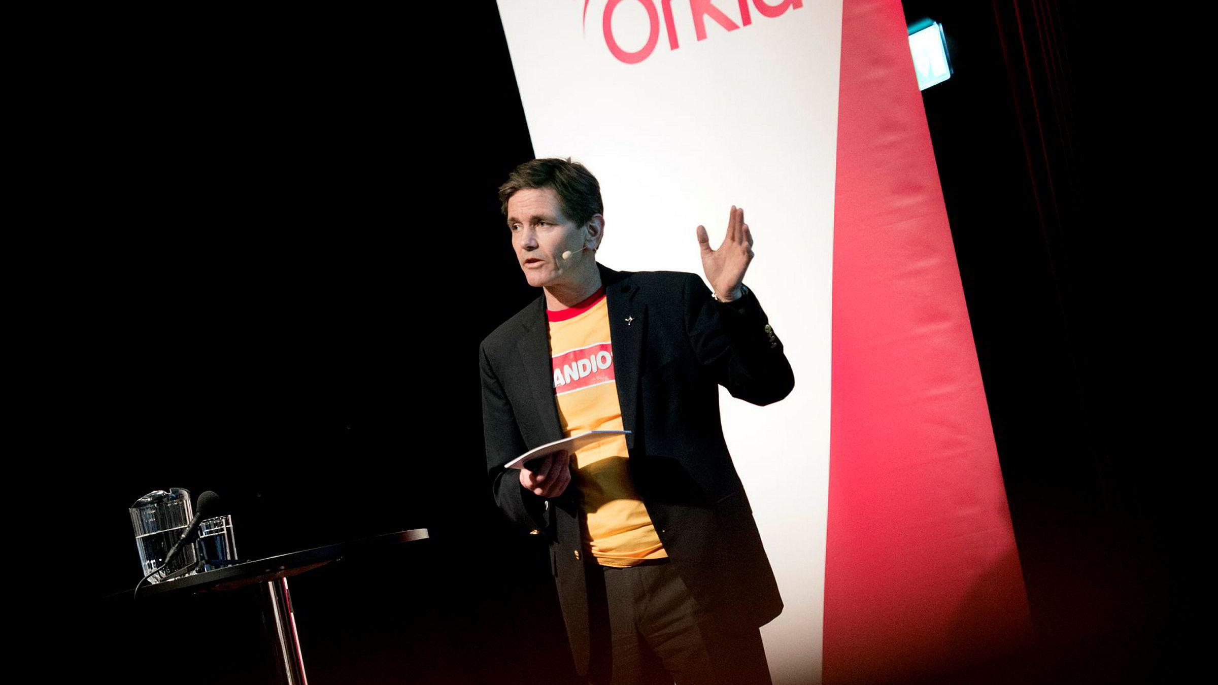 Peter Ruzicka - konsernsjef i Orkla la frem kvartalstall torsdag.