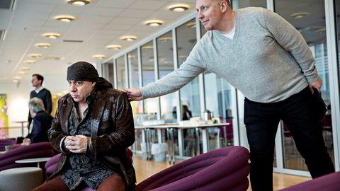 Pål Kruke Kristiansen er blitt enig med EndemolShine om at han slutter som Rubicon-sjef. Her fotografert sammen med Steven van Zandt (til venstre) fra Rubicon-tv-serien «Lilyhammer». Foto: Aleksander Nordahl