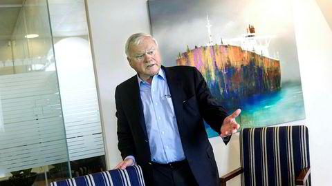 Seadrill- styreleder og hovedaksjonær John Fredriksen, går svanger med børsplaner for selskapet Northern Drilling. Her på sitt kontor i London.