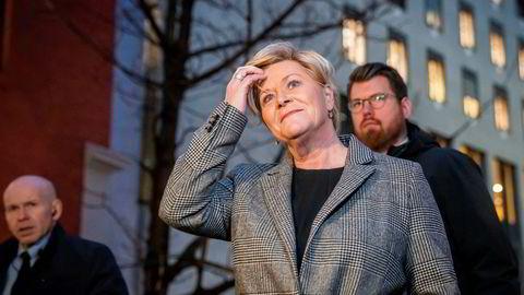Siv Jensen skal neste uke møte statsministeren og diskutere Frps kravliste.