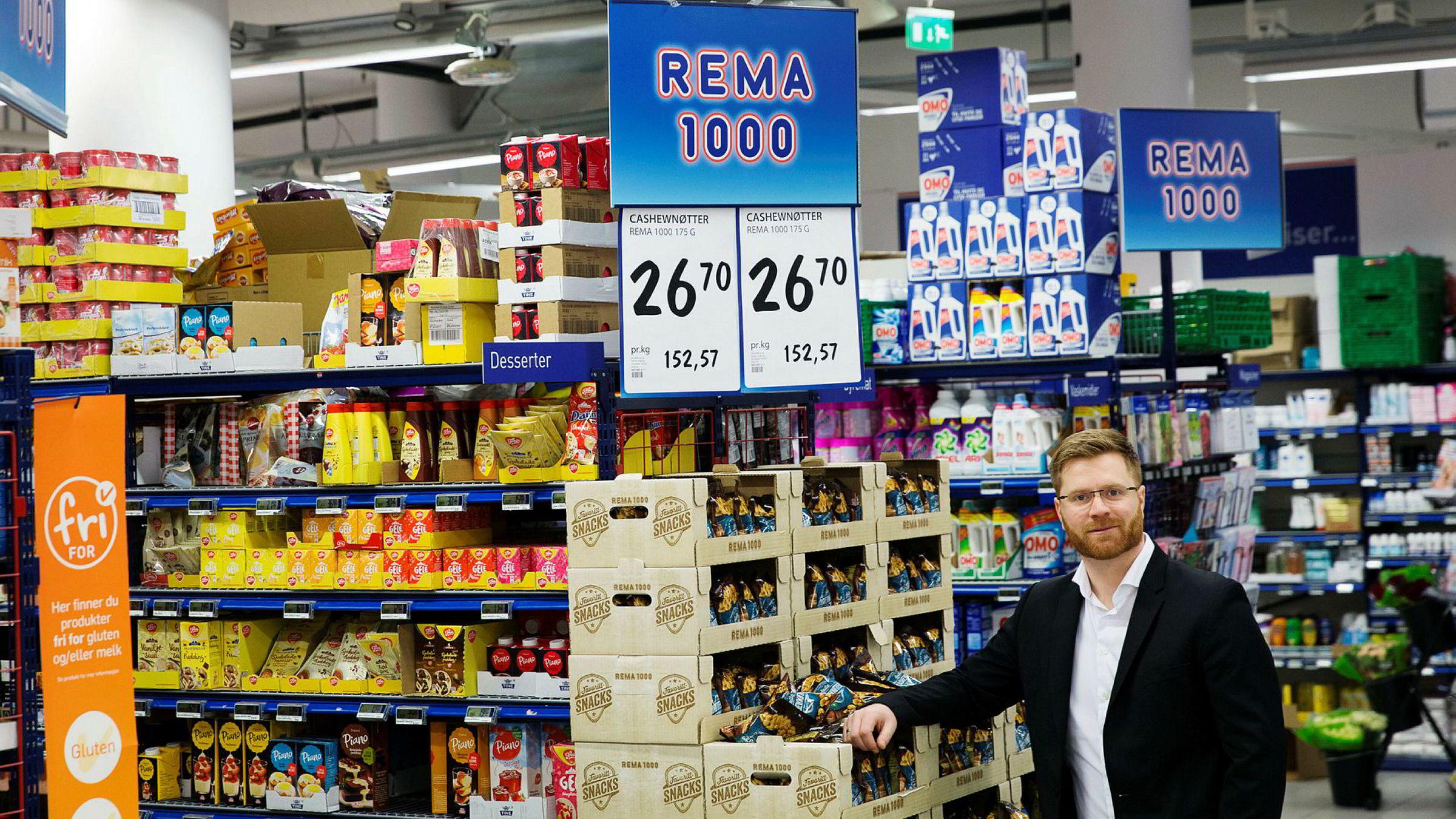Flere leverandører forsvinner ut når Rema-direktør Lars Kristian Lindberg har storopprydning i leverandørleddet. Her i Rema-butikken på Ensjø i Oslo.