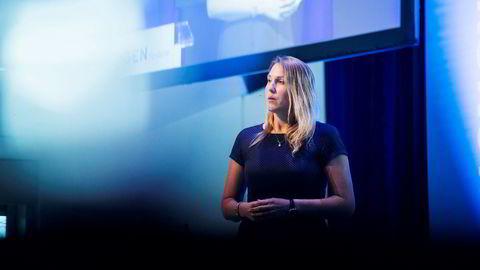 Erica Blomgren spår større svingninger i markedene fremover. Her fotografert på årskonferansen til Skagenfondene tidligere i år.