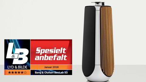 Beolab 50 fra Bang & Olufsen produserer et nærmest magisk lydbilde, mener anmelderen.