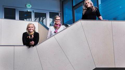 «Årets Byrå» skal kåres 8. mai. Fra venstre, Pia Grahn, Tonje Gjerstad og Pernilla Plog fra Regi.