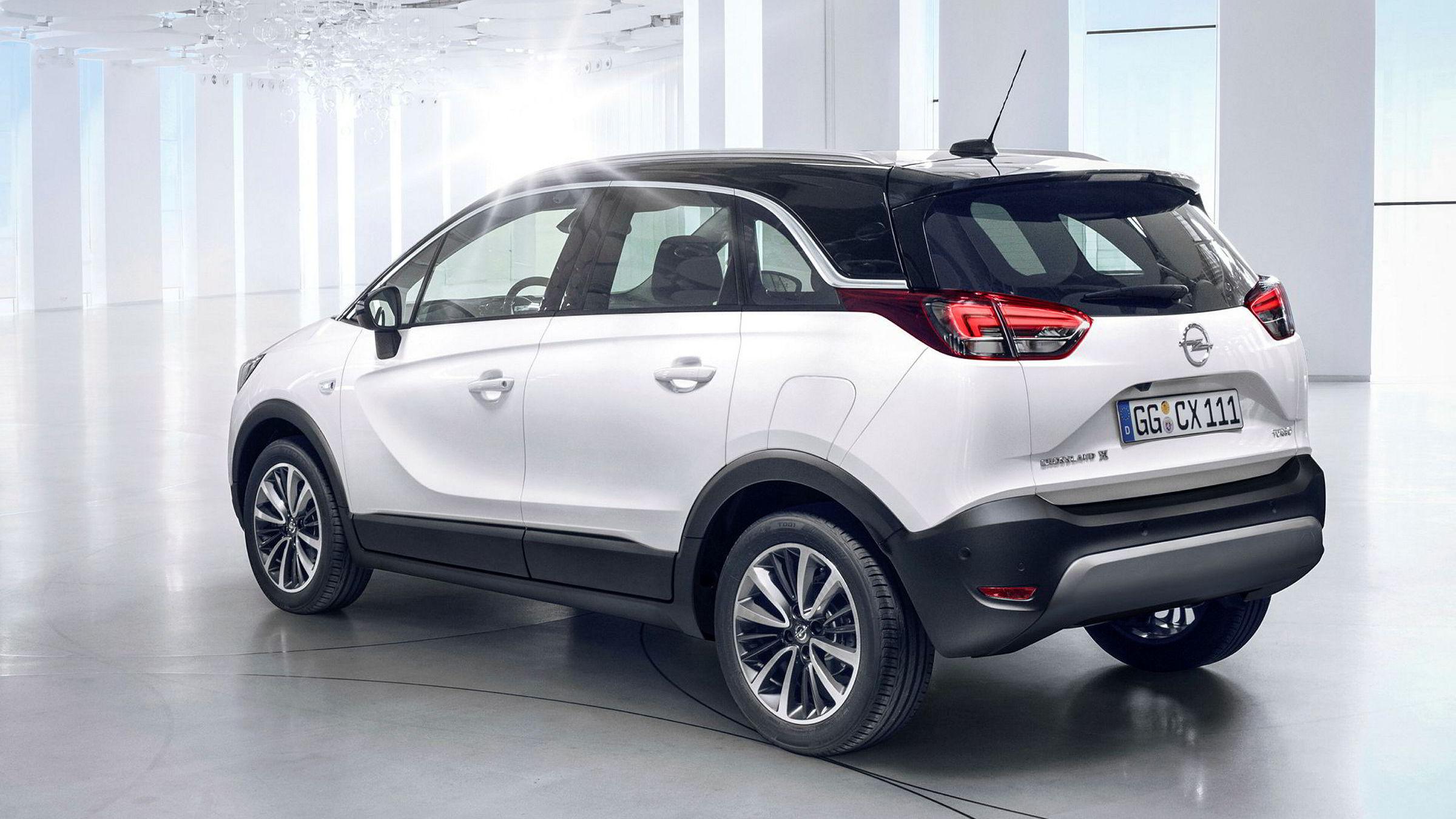 Opel tar sikte på å dekke flere nisjer innen suv-segmentet. Crossland X er kortere enn dagens Mokka X.