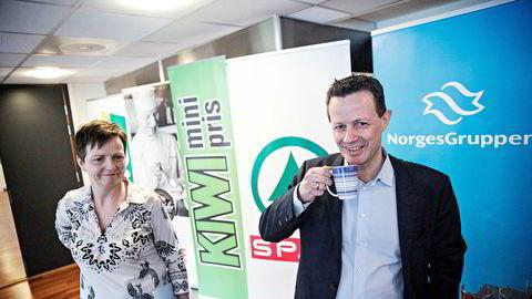 Konsernsjef Runar Hollevik og konserndirektør for økonomi og finans Mette Lier kunne legge frem tall for 2017 som viste en vekst på 5,5 milliarder kroner.