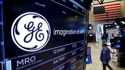 Etter 111 år forsvinner General Electric fra den prestisjetunge børsindeksen Dow Jones Industrial – som det siste av de store amerikanske konglomeratene. Bildet er fra juni 2017.