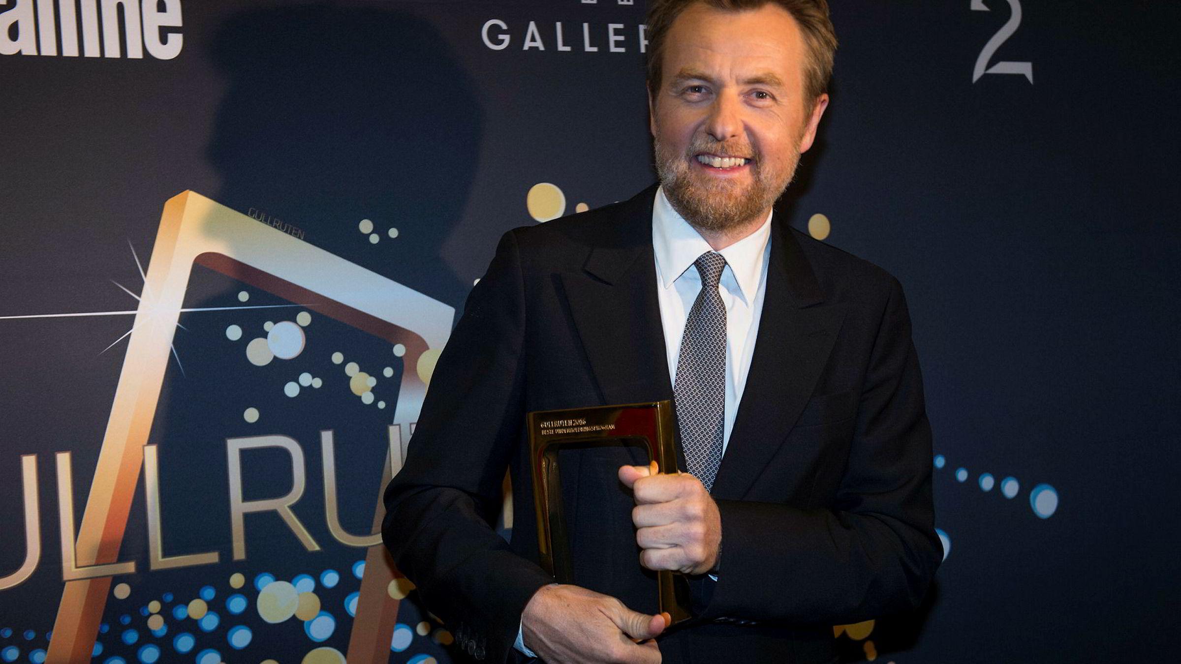 Fredrik Skavlan vant Gullruten for«Skavlan» i 2016.