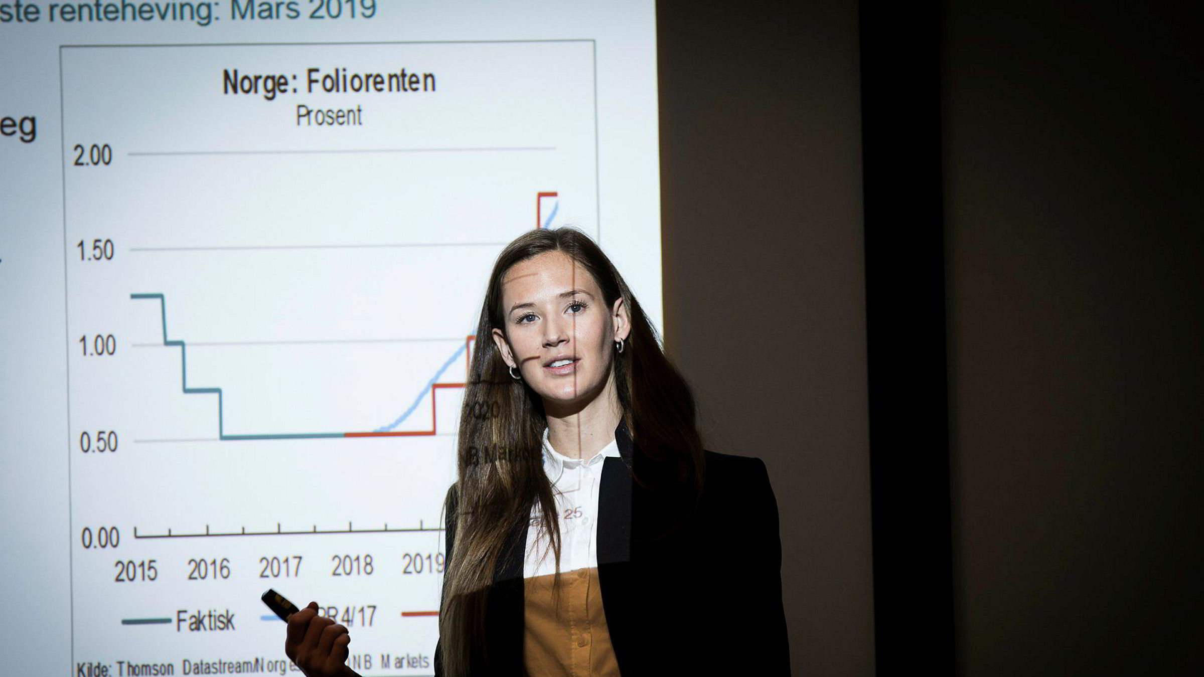 DNB-analytiker Jeanette Strøm Fjære mener at nedgangen i antall usolgte boliger i januar er et godt tegn.