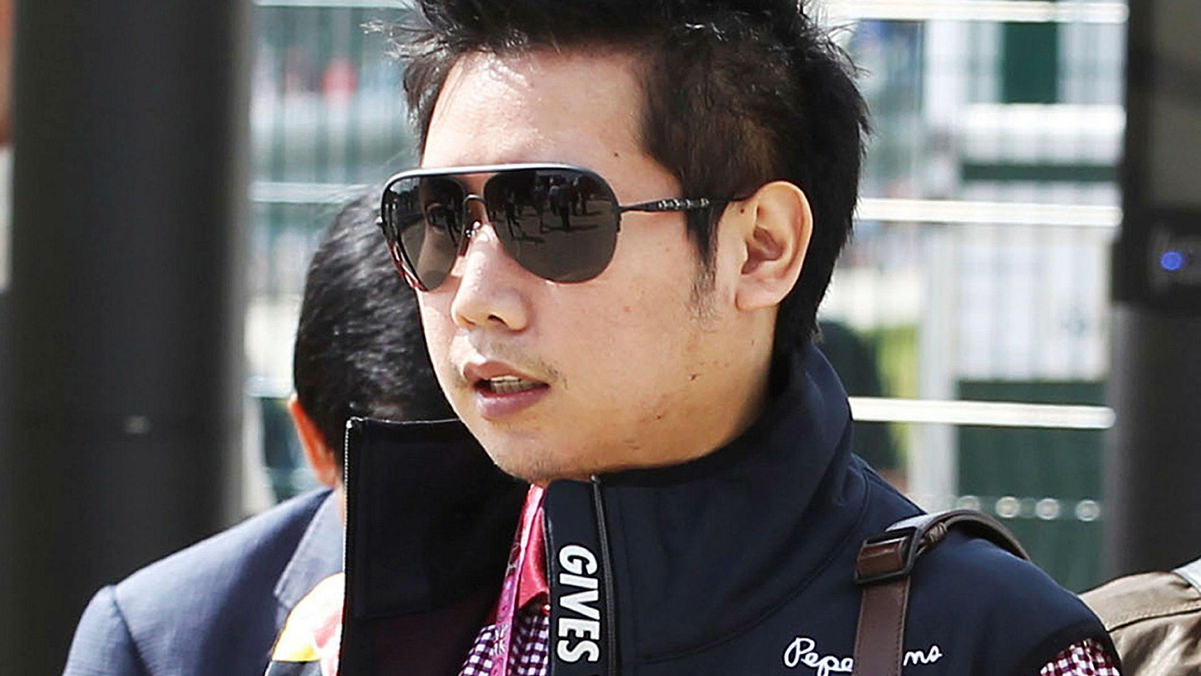 Worayuth Yoovidhya under Formel 1-racet på Silverstone i Storbritannia i 2013.